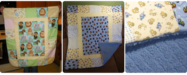 My first baby quilts
