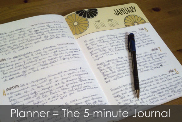 Planner = The 5-minute Journal