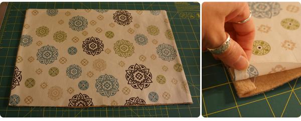 Reverse fabric & press