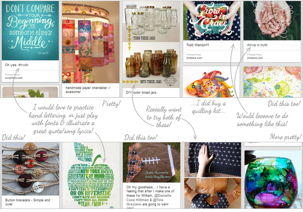 """My """"Inspiration for Projects"""" Pin Board"""