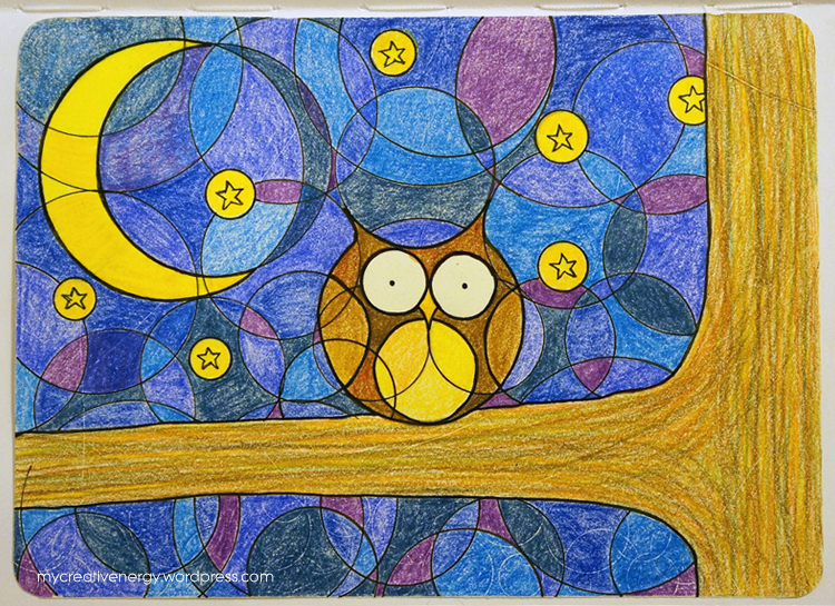 Colorful owl doodle | mycreativenergy.wordpress.com