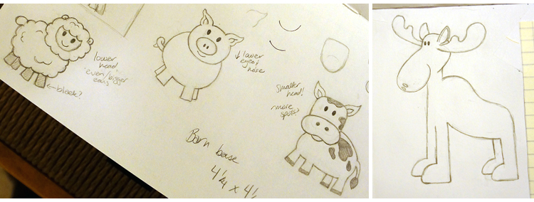 Farm animal doodles | mycreativenergy.wordpress.com