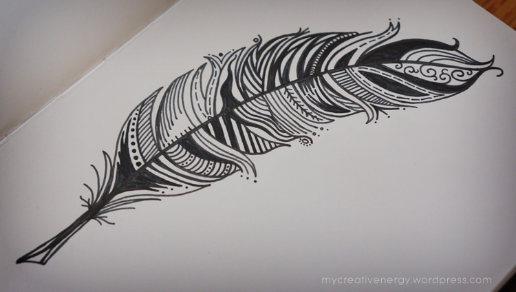 Feather line design
