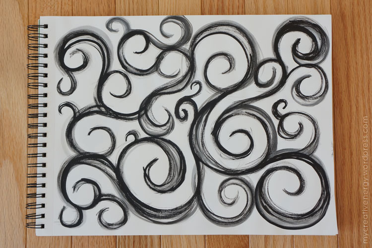 India Ink swirls