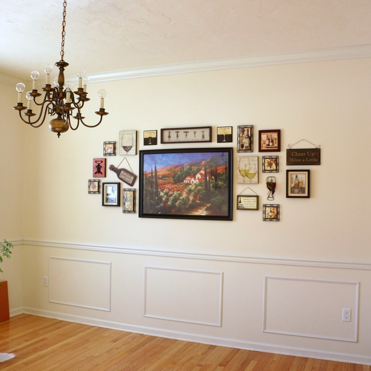 Wine-themed gallery wall