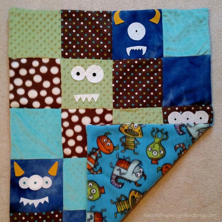 Homemade Gift Monster Quilt