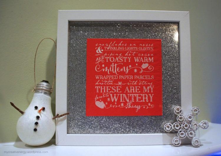 Frame a festive cocktail napkin