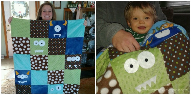 Monster Quilt & my cute nephew