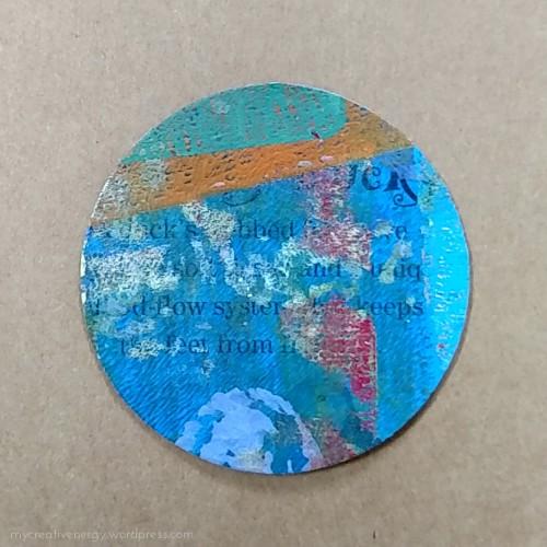 Gelli print circle
