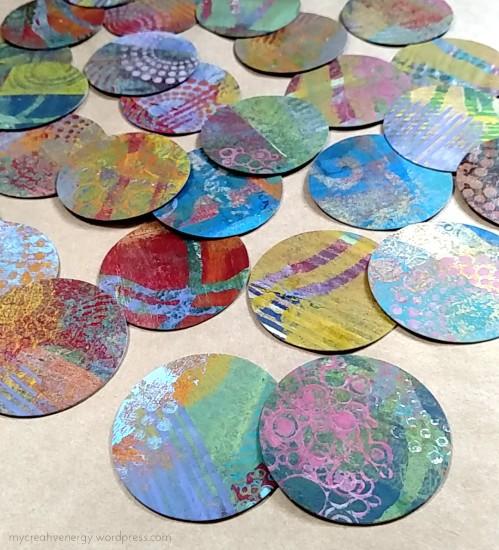 Gell print circles