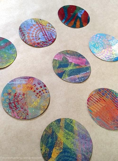 Gelli print circles