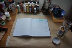 Art journal process 1