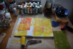 Art journal process 2