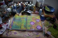 Art journal process 6