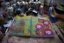 Art journal process 7