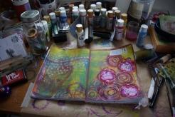 Art journal process 8