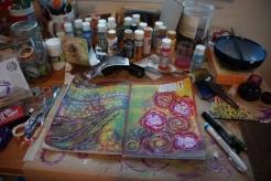 Art journal process 9