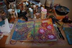 Art journal process - finished