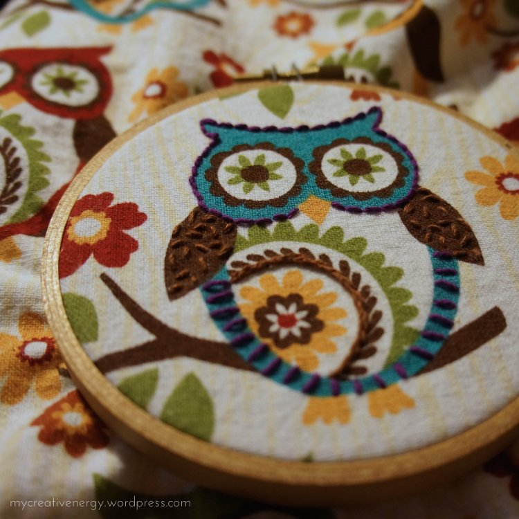 Embroidered owl #2