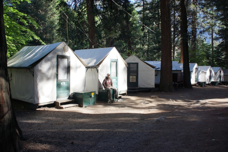 The tent cabins in Curry Village