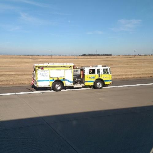 Firetruck from plane