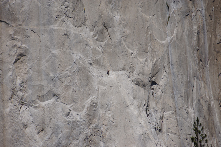 Climbers scaling El Capitan
