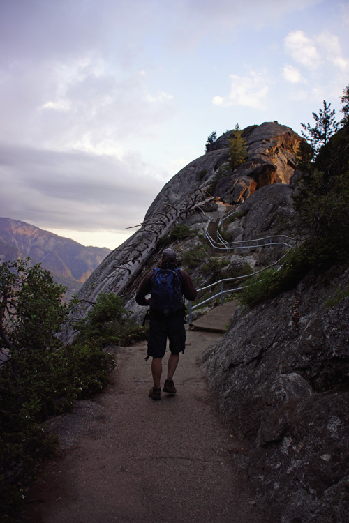 The path up to Moro Rock