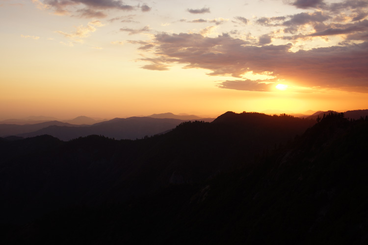 Sunset from the top of Moro Rock
