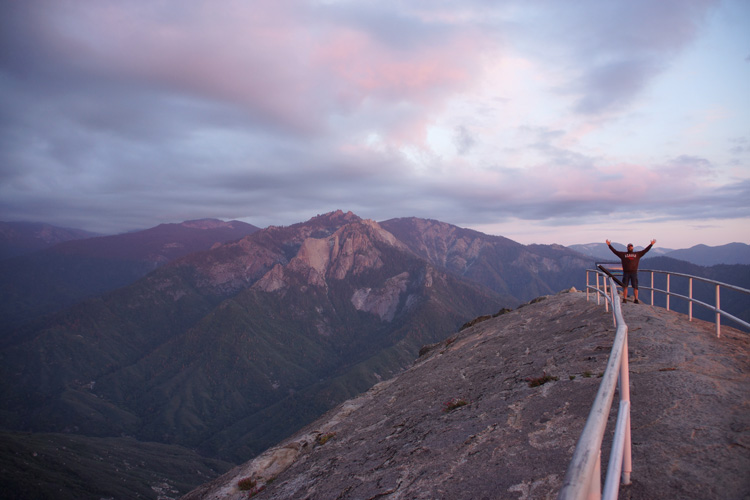 The top of Moro Rock, Sequoia NP
