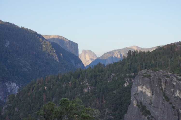 Our first glimpse of Half Dome