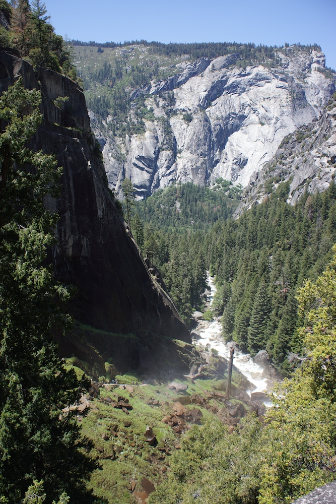 The view from the top of Vernal Falls