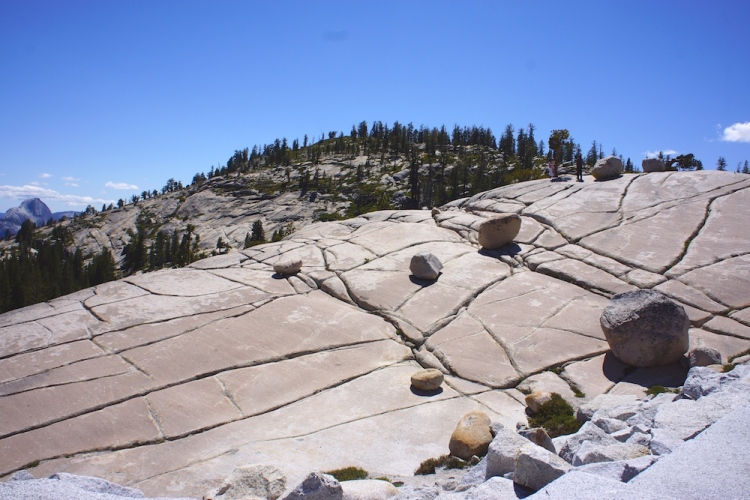 Random boulders left by glaciers