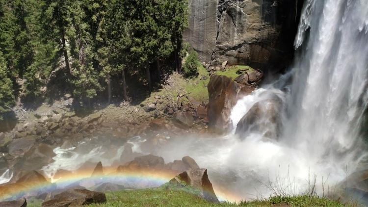 The rainbow within Vernal Fall's spray